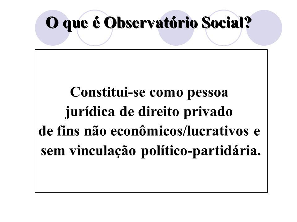 O que é Observatório Social.Um movimento da sociedade civil.