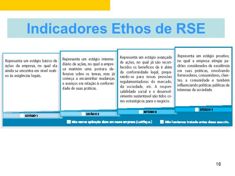 15 Indicadores Ethos de RSE