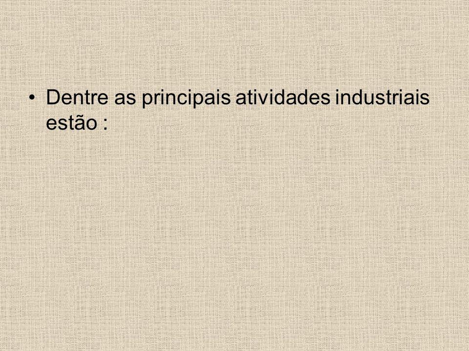Dentre as principais atividades industriais estão :