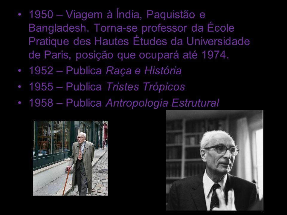 1950 – Viagem à Índia, Paquistão e Bangladesh. Torna-se professor da École Pratique des Hautes Études da Universidade de Paris, posição que ocupará at