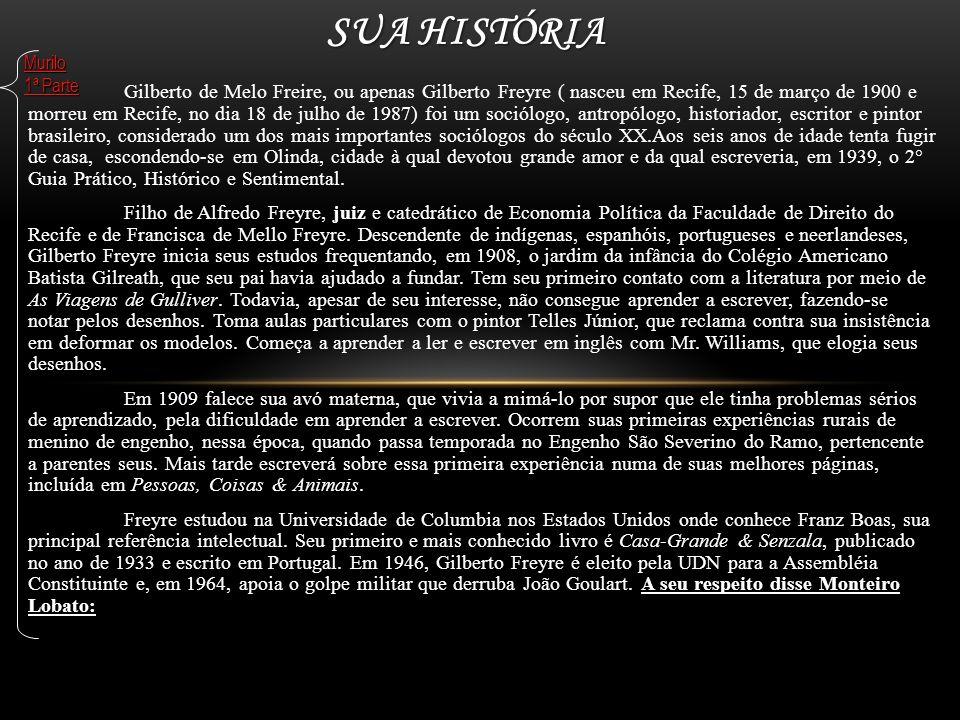 Gilberto de Melo Freire, ou apenas Gilberto Freyre ( nasceu em Recife, 15 de março de 1900 e morreu em Recife, no dia 18 de julho de 1987) foi um soci