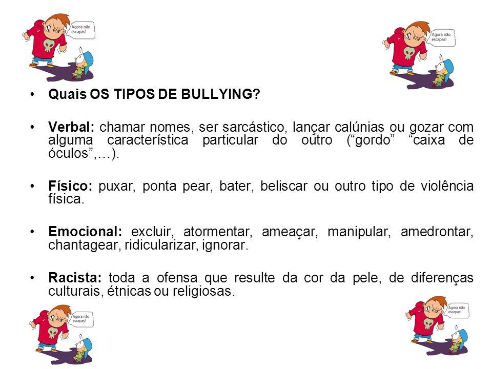 Cyberbullying: utilizar tecnologias de informação e comunicação (internet ou tele móvel) para hostilizar, deliberada e repetida mente, uma pessoa, com o intuito de magoá-la.