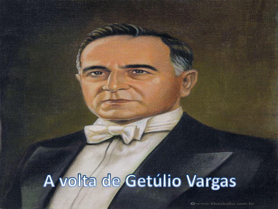 A volta de Getulio Vargas(1951-1954) Terminado o governo Dutra,novas eleições presidenciais foram realizadas.