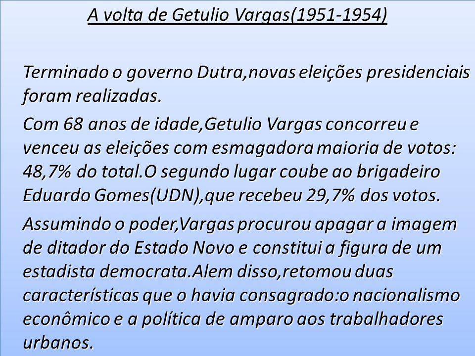 Nacionalismo Nacionalismo Getulio empenhou-se em realizar um governo nacionalista.Dizia que era preciso atacar a exploração das forças internacionais para que o pais conquistasse sua independência econômica.
