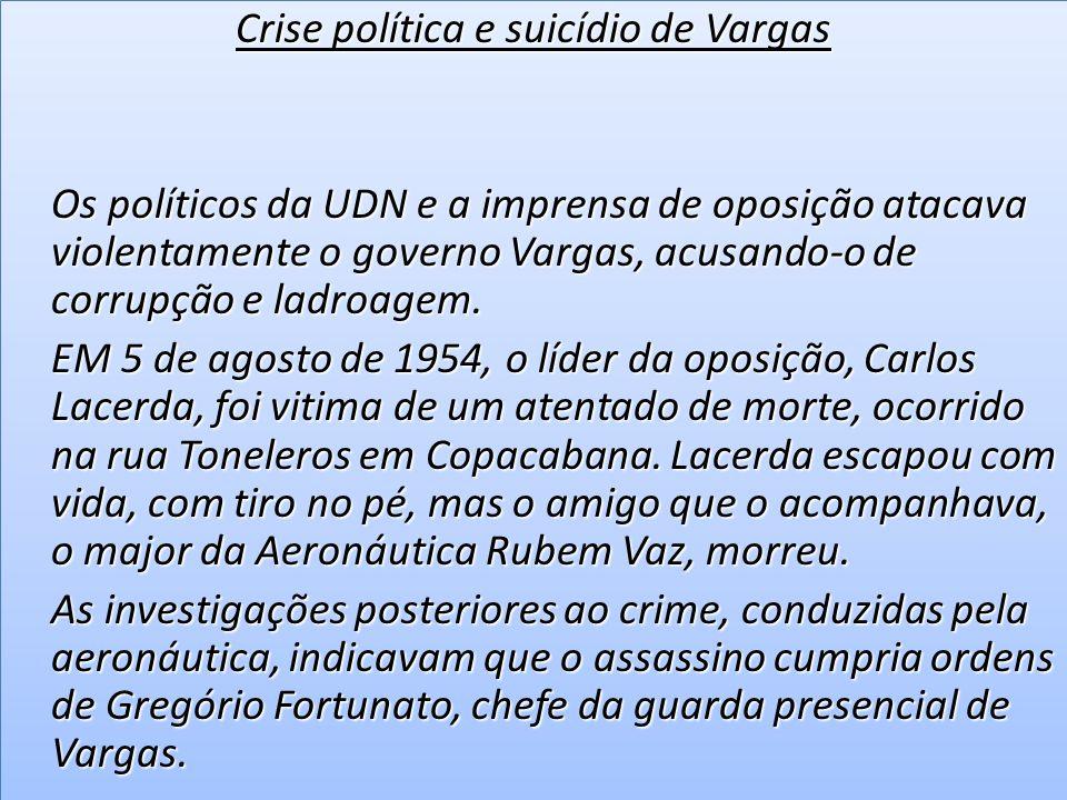 As noticias sobre o crime da rua Toneleros alcançara grande repercussão na imprensa antigetulista.