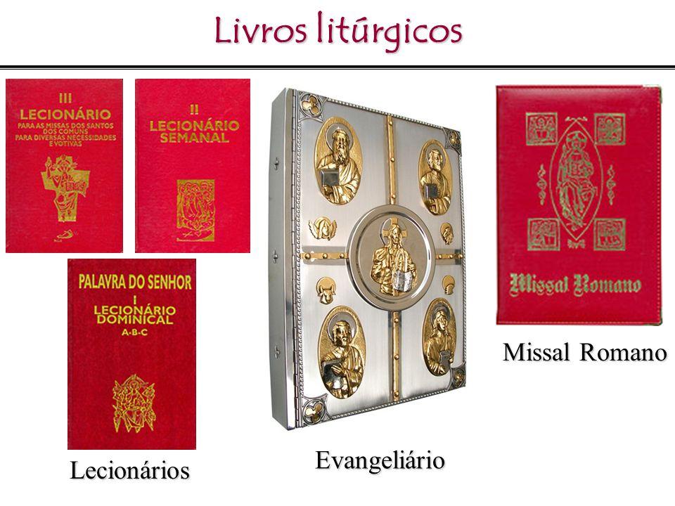 Livros litúrgicos Evangeliário Missal Romano Lecionários