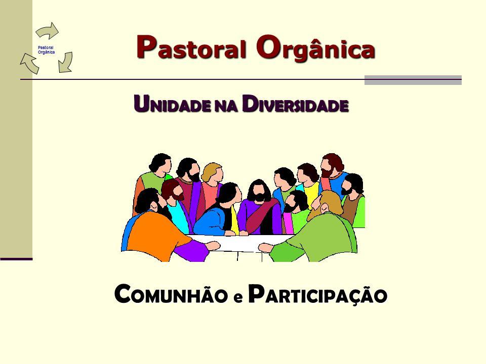 P astoral O rgânica U NIDADE NA D IVERSIDADE C OMUNHÃO e P ARTICIPAÇÃO Pastoral Pastoral Orgânica Orgânica
