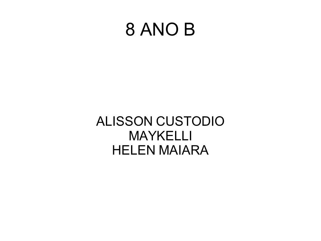 8 ANO B ALISSON CUSTODIO MAYKELLI HELEN MAIARA