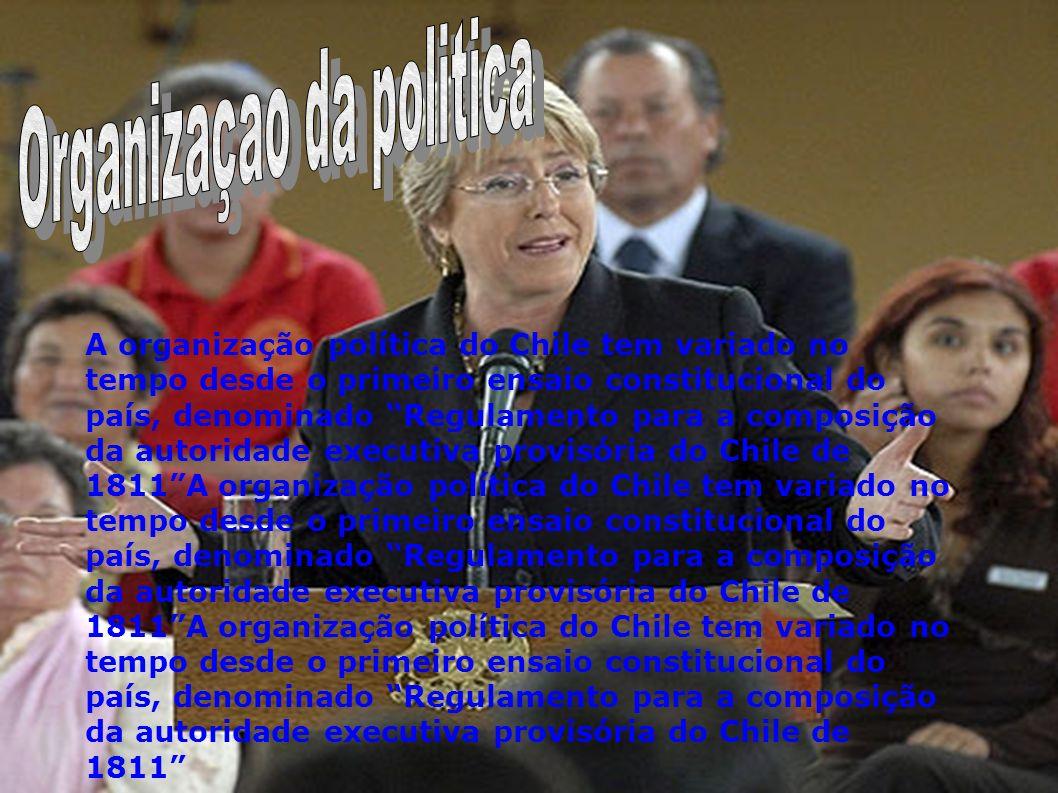 A organização política do Chile tem variado no tempo desde o primeiro ensaio constitucional do país, denominado Regulamento para a composição da autor