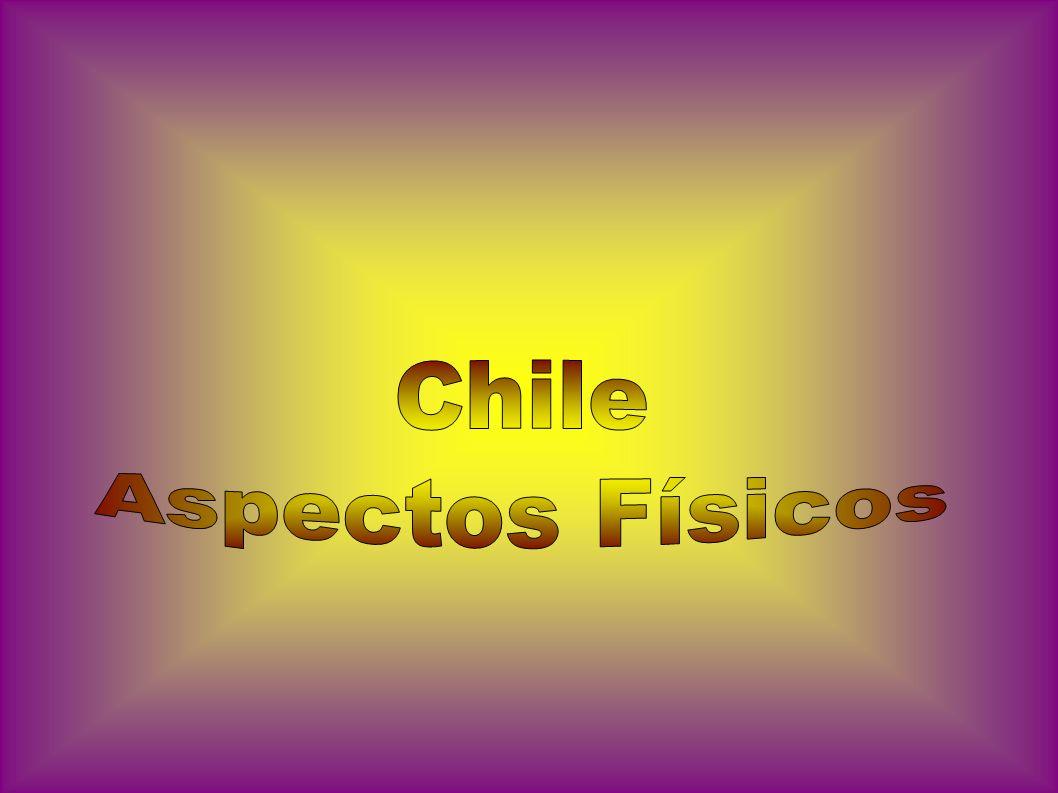 Situada numa estreita faixa de terra, entre a Cordilheira dos Andes País de Região montanhosa de norte a sul, tem em seu relevo planaltos desérticos, semidesérticos, vales, lagos, ilhas, golfos e fjordes.