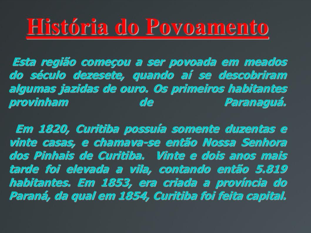 História do Povoamento Esta região começou a ser povoada em meados do século dezesete, quando aí se descobriram algumas jazidas de ouro.