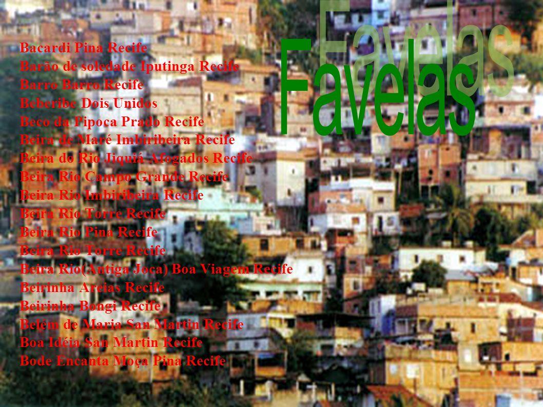 Favelas 13 de Maio (Nova Descoberta) Alto 13 de Maio (Vasco Altoda Gama) Alto 7 de Setembro (Nova Descoberta) Alto Antônio Felix (Nova Descoberta) Alt