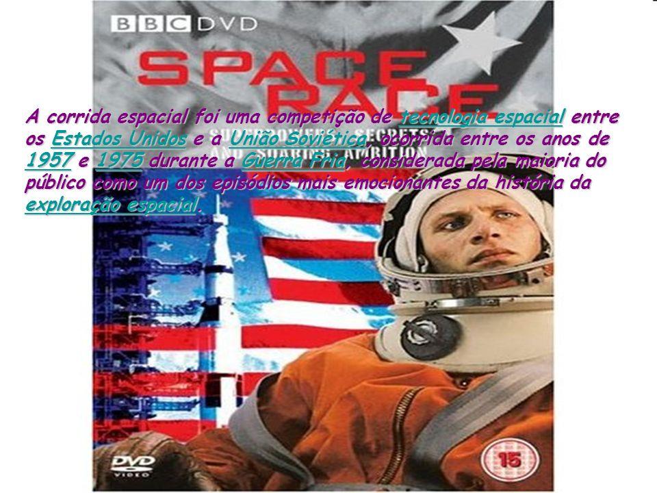 A corrida espacial foi uma competição de tecnologia espacial entre os Estados Unidos e a União Soviética, ocorrida entre os anos de 1957 e 1975 durante a Guerra Fria, considerada pela maioria do público como um dos episódios mais emocionantes da história da exploração espacial.