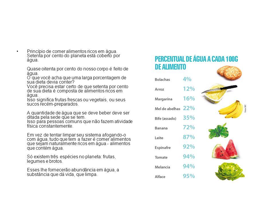 Quando as pessoas vivem com uma dieta deficiente de alimentos que contêm água, o funcionamento doentio do corpo é quase certo.