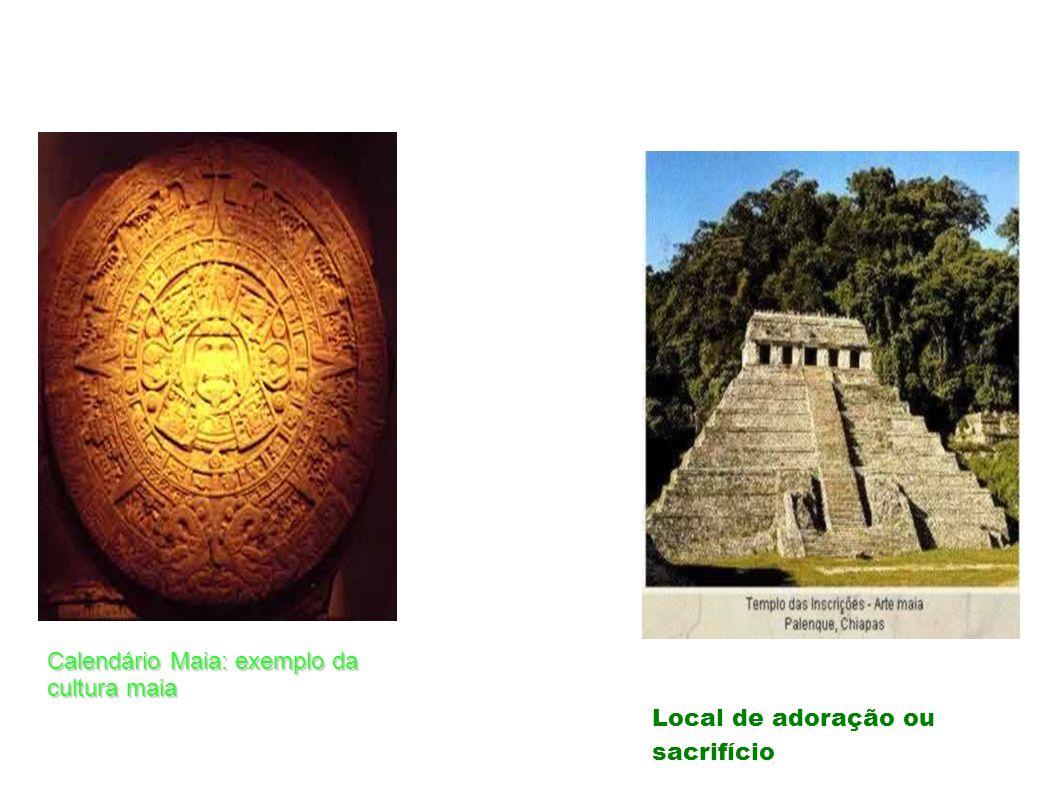 Calendário Maia: exemplo da cultura maia Local de adoração ou sacrifício