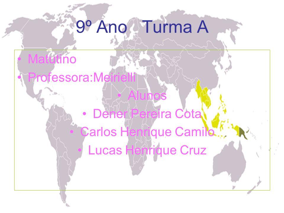 9º Ano Turma A Matutino Professora:Meirielli Alunos Dener Pereira Cota Carlos Henrique Camilo Lucas Henrique Cruz