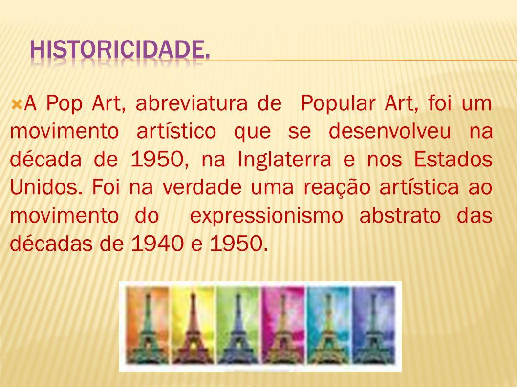 O QUE É POP ART? Pop art. Essa expressão, oriunda do inglês, significa arte popular. Ao contrário do que parece, essa arte popular que define tal movi