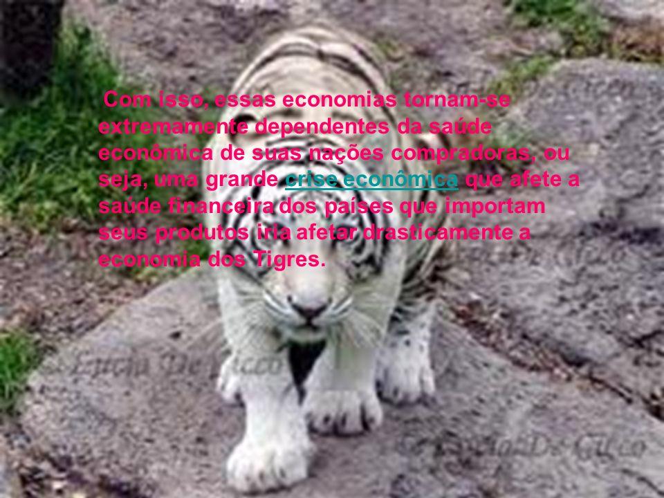 CRITICA AO MODELO EXPORTADOR Uma das principais críticas ao sistema econômico dos Tigres Asiáticos é o foco exclusivo na exportação, deixando de lado
