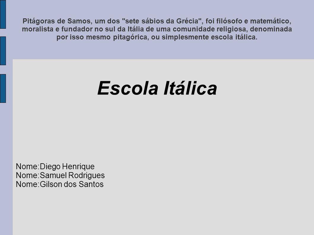 Pitágoras de Samos, um dos