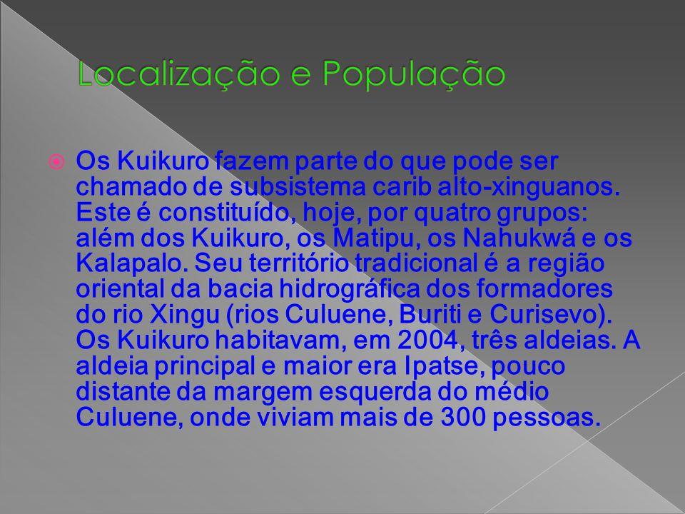 Os Kuikuro fazem parte do que pode ser chamado de subsistema carib alto-xinguanos. Este é constituído, hoje, por quatro grupos: além dos Kuikuro, os M