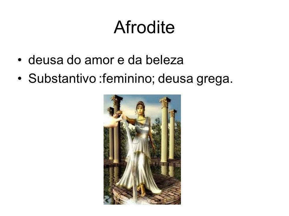 Atena deusa da sabedoria e da serenidade Substantivo:feminino;deusa grega.