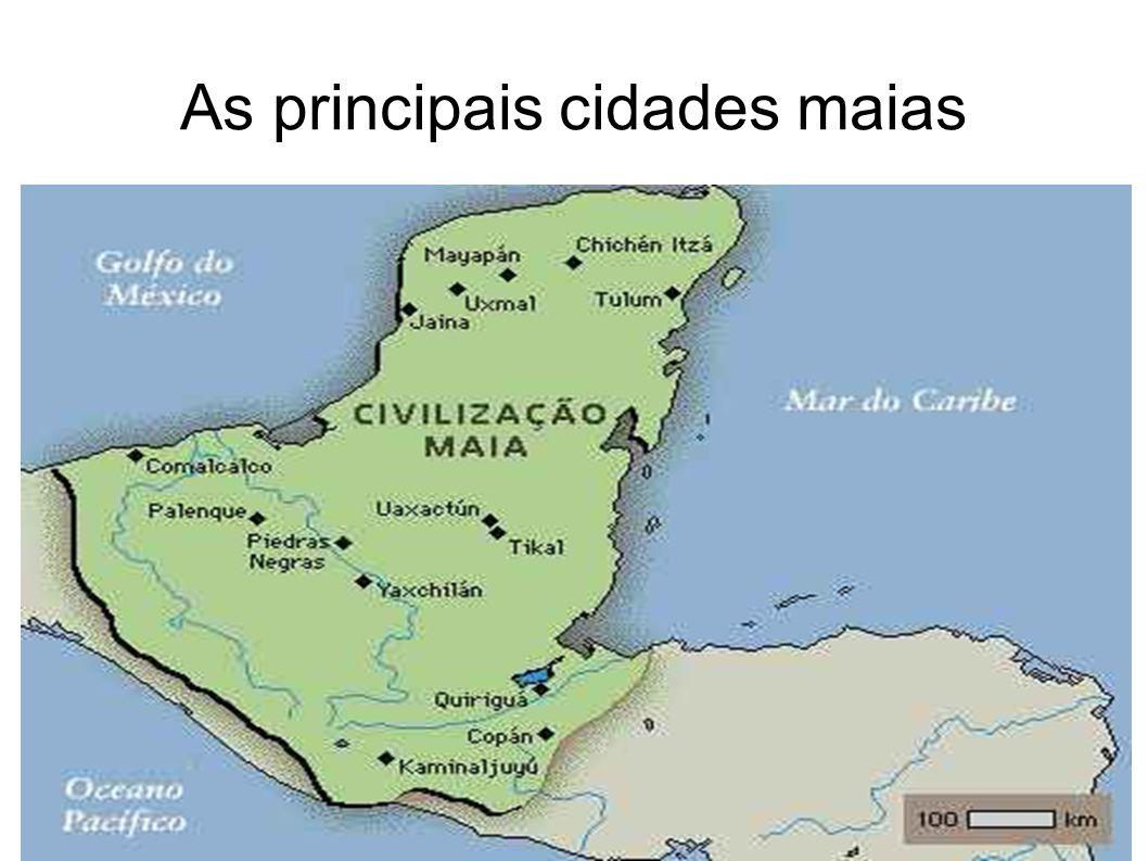 As principais cidades maias