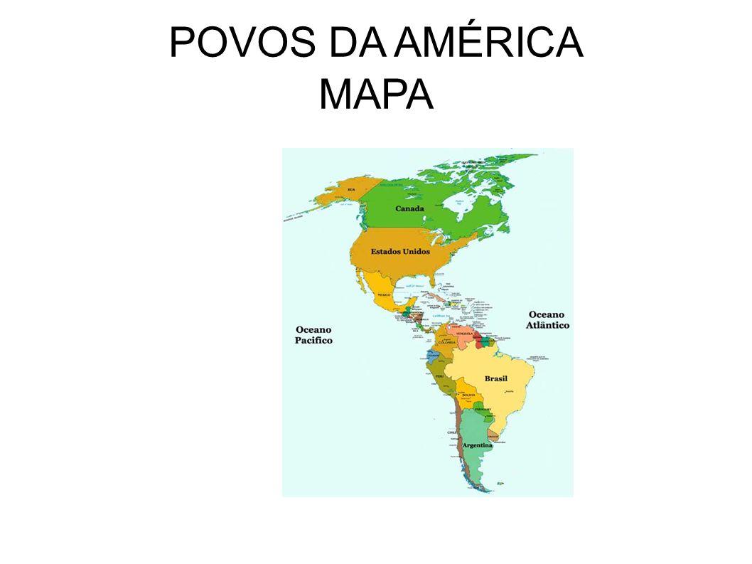 POVOS DA AMÉRICA MAPA