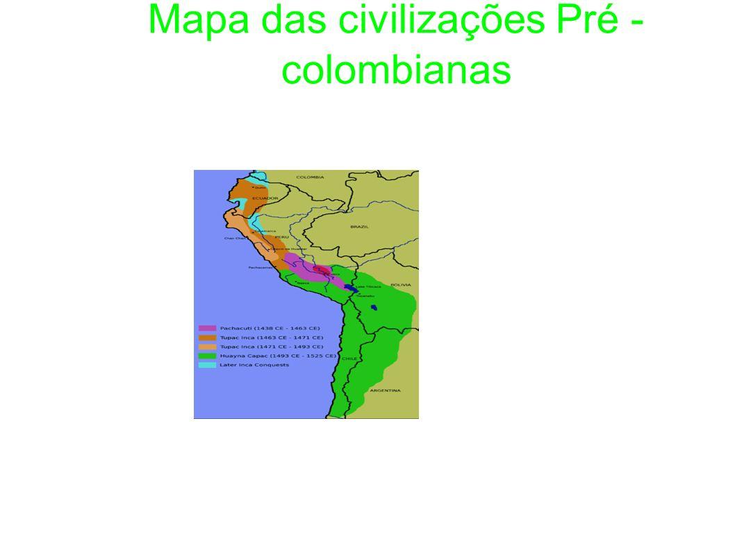 Mapa das civilizações Pré - colombianas