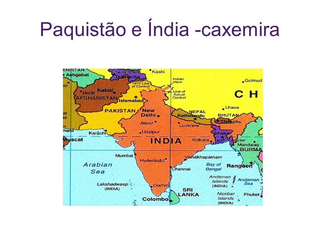 Paquistão e Índia -caxemira