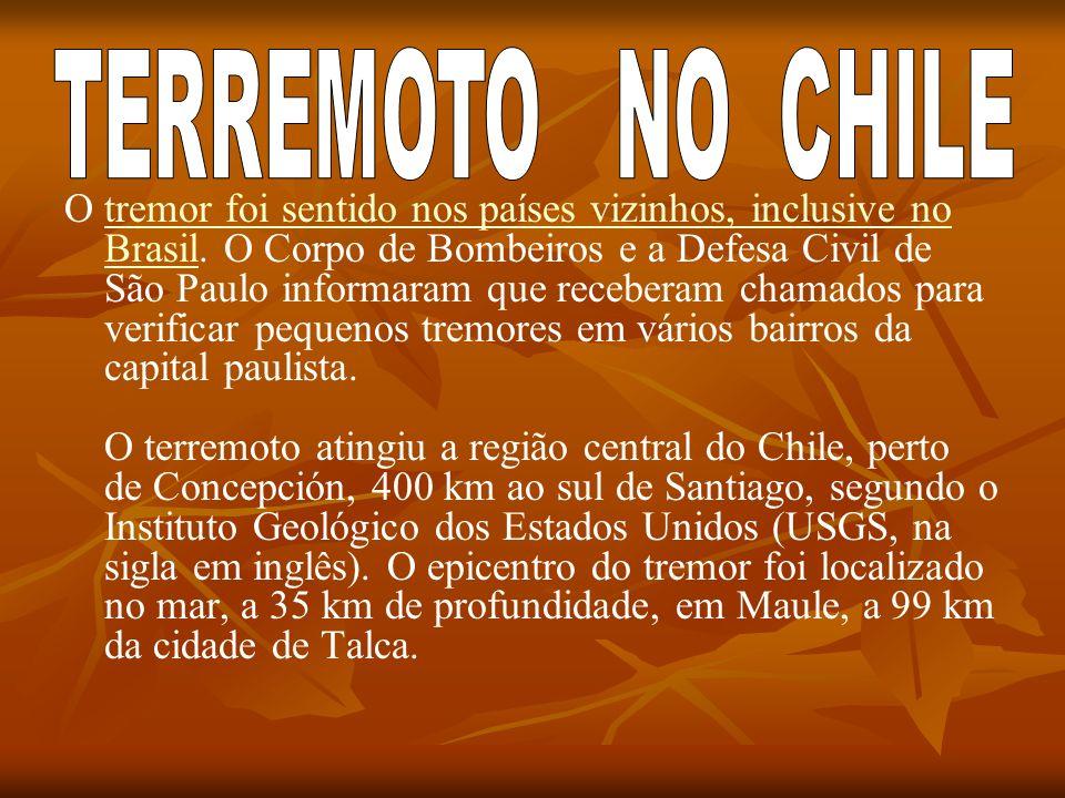 O tremor foi sentido nos países vizinhos, inclusive no Brasil. O Corpo de Bombeiros e a Defesa Civil de São Paulo informaram que receberam chamados pa