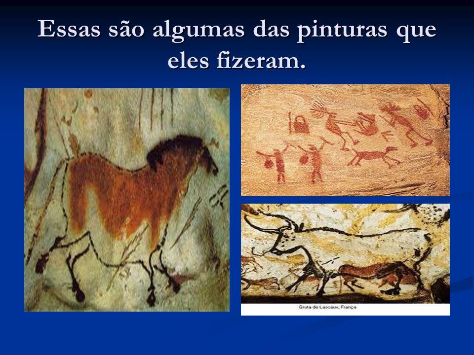 Essas são algumas das pinturas que eles fizeram.