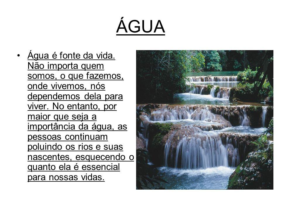 Importância da água para o corpo Água ajuda o corpo ao: * Manter a temperatura normal.
