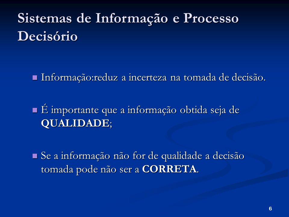 666 Informação:reduz a incerteza na tomada de decisão.