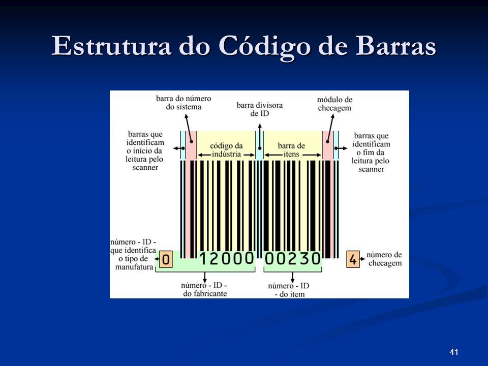 41 Estrutura do Código de Barras