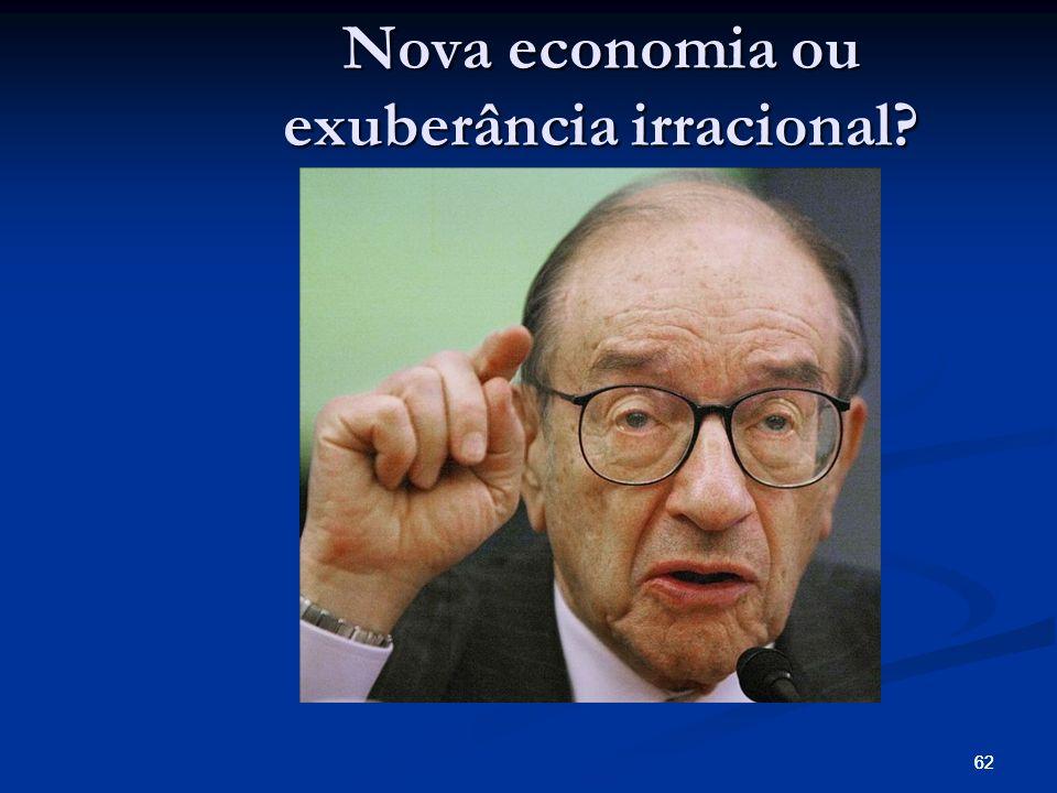 62 Nova economia ou exuberância irracional?