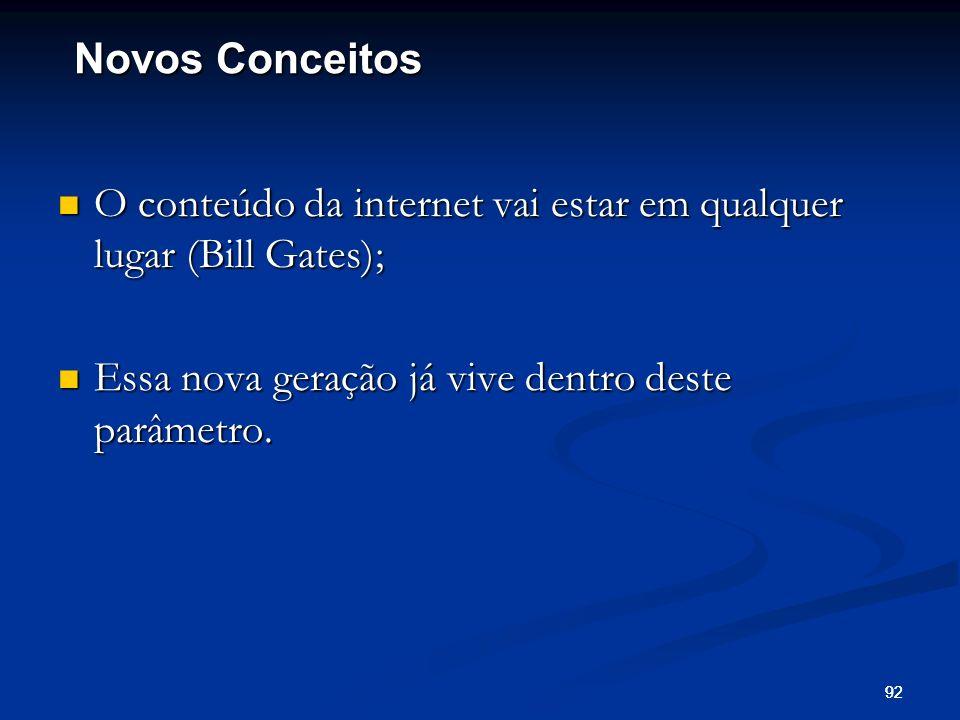 92 O conteúdo da internet vai estar em qualquer lugar (Bill Gates); O conteúdo da internet vai estar em qualquer lugar (Bill Gates); Essa nova geração