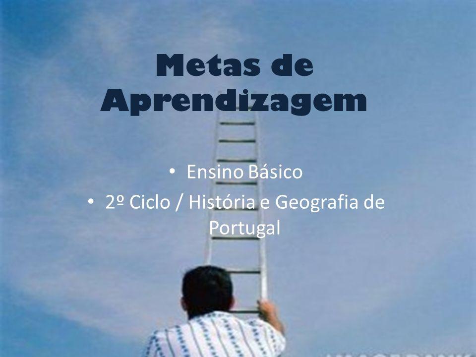 Metas de Aprendizagem Ensino Básico 2º Ciclo / História e Geografia de Portugal