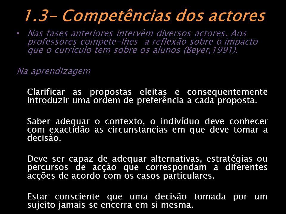 1.4- Qual o papel do aluno na partilha de decisões?.