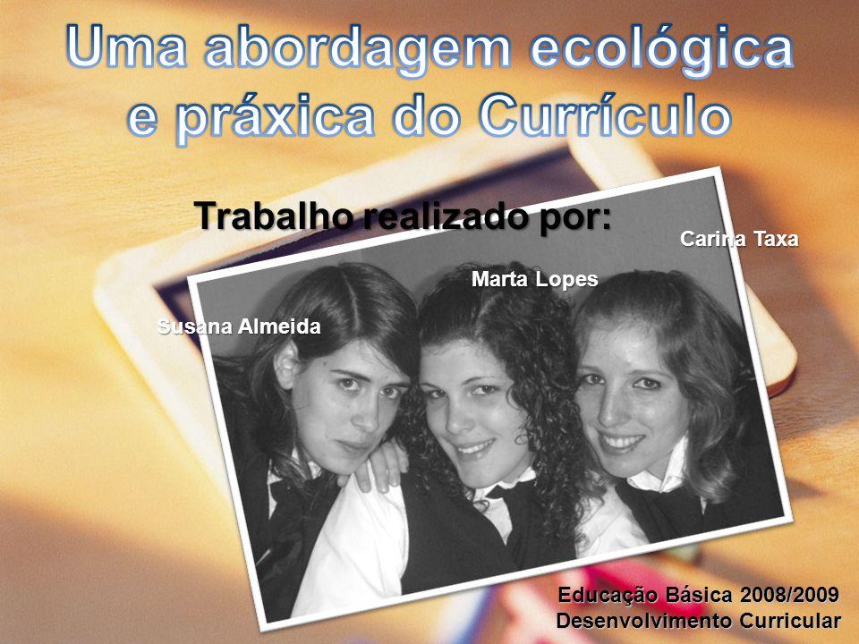 Trabalho realizado por: Carina Taxa Marta Lopes Susana Almeida Educação Básica 2008/2009 Desenvolvimento Curricular