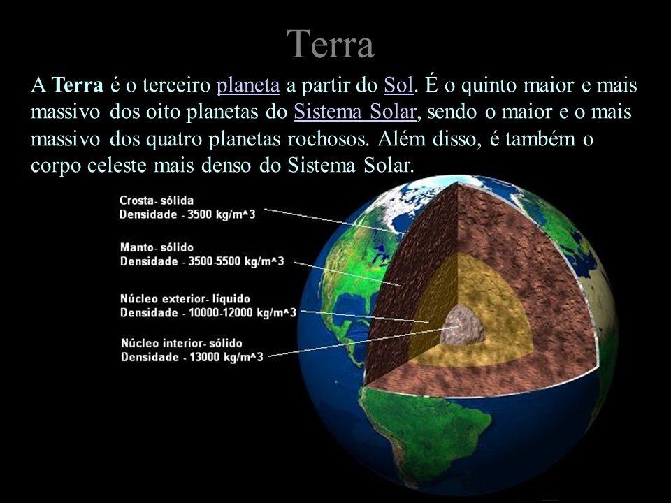 Terra A Terra é o terceiro planeta a partir do Sol. É o quinto maior e mais massivo dos oito planetas do Sistema Solar, sendo o maior e o mais massivo