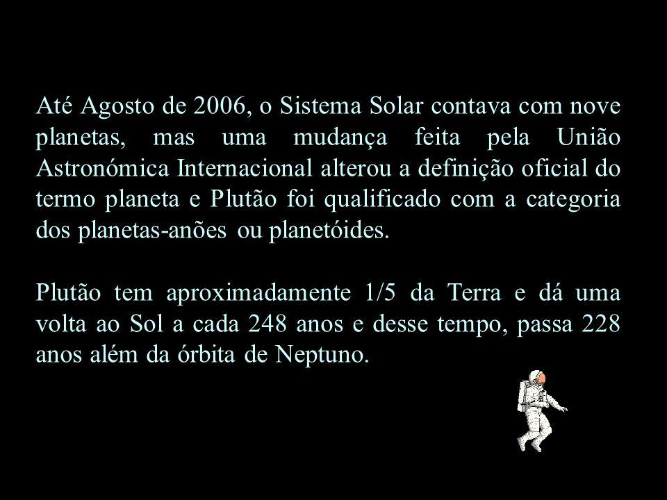 Até Agosto de 2006, o Sistema Solar contava com nove planetas, mas uma mudança feita pela União Astronómica Internacional alterou a definição oficial