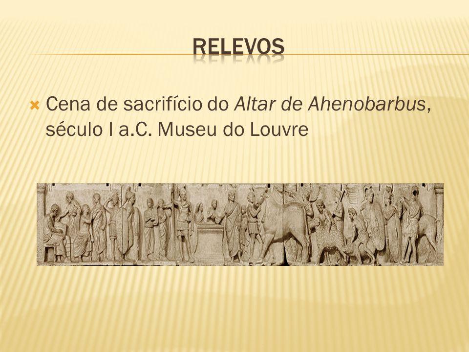 Cena de sacrifício do Altar de Ahenobarbus, século I a.C. Museu do Louvre