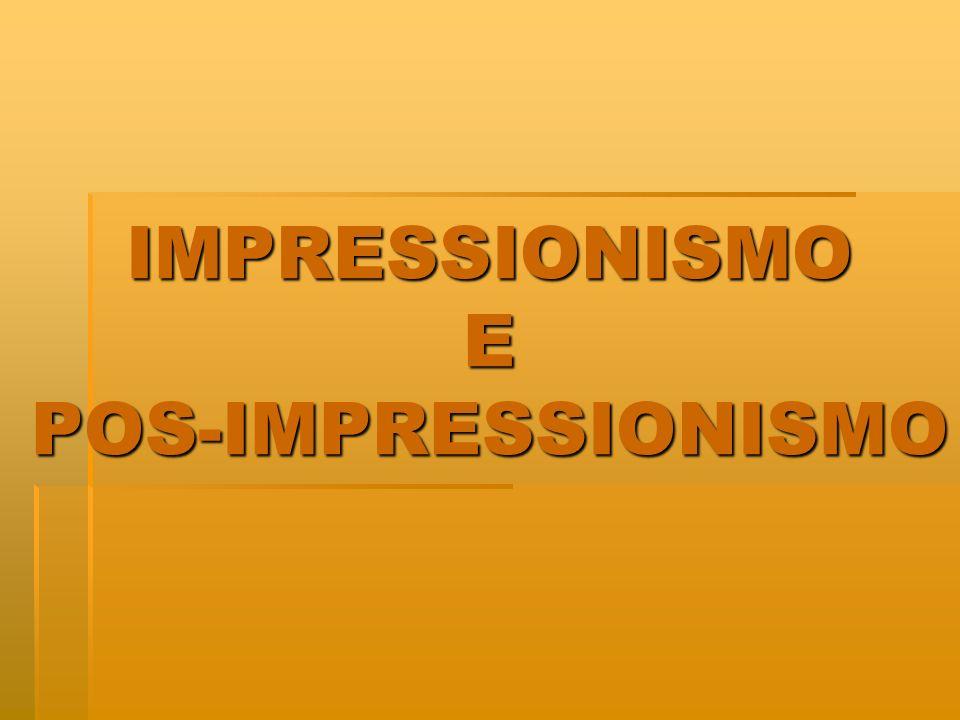 POS-IMPRESSIONISMO Os pós - impressionistas sentiam-se insatisfeitos em relação aos impressionistas, pois desejavam que a arte fosse mais substancial, não somente dedicada a captar um momento passageiro.