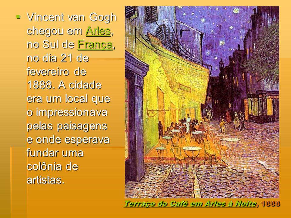 Terraço do Café em Arles à NoiteTerraço do Café em Arles à Noite, 1888 Terraço do Café em Arles à Noite Vincent van Gogh chegou em Arles, no Sul de Fr
