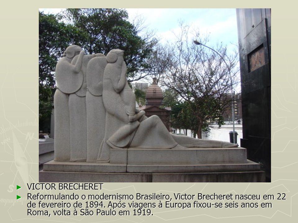 VICTOR BRECHERET VICTOR BRECHERET Reformulando o modernismo Brasileiro, Victor Brecheret nasceu em 22 de fevereiro de 1894. Após viagens à Europa fixo