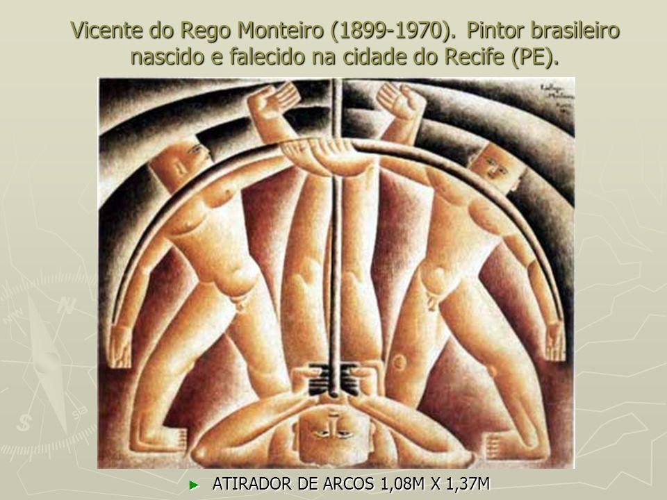 Vicente do Rego Monteiro (1899-1970). Pintor brasileiro nascido e falecido na cidade do Recife (PE). ATIRADOR DE ARCOS 1,08M X 1,37M ATIRADOR DE ARCOS