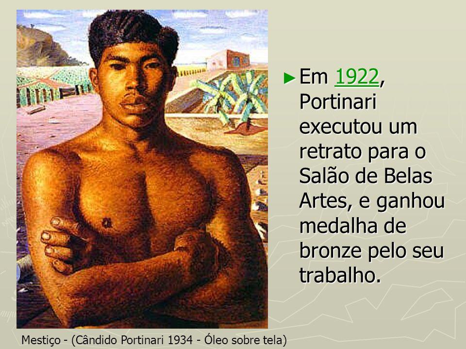 Em 1922, Portinari executou um retrato para o Salão de Belas Artes, e ganhou medalha de bronze pelo seu trabalho. Em 1922, Portinari executou um retra