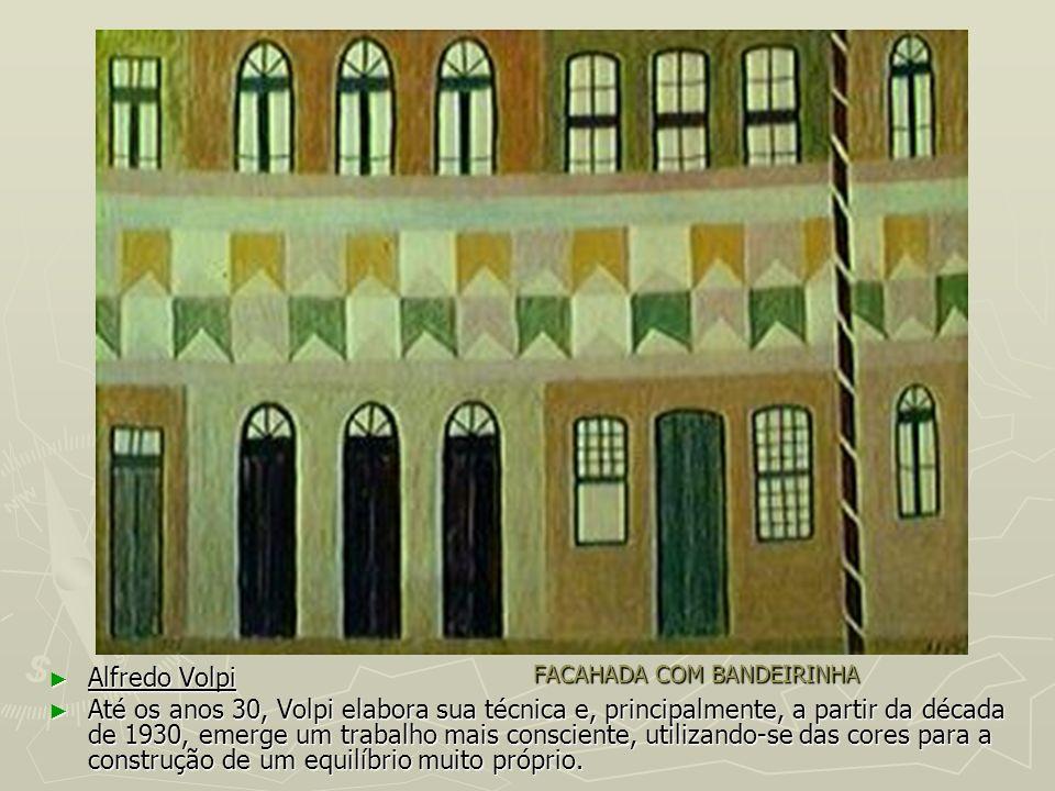FACAHADA COM BANDEIRINHA Alfredo Volpi Alfredo Volpi Até os anos 30, Volpi elabora sua técnica e, principalmente, a partir da década de 1930, emerge u