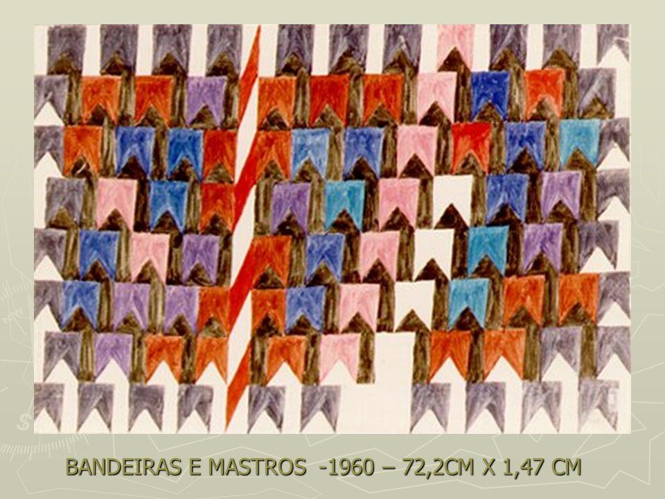 BANDEIRAS E MASTROS -1960 – 72,2CM X 1,47 CM