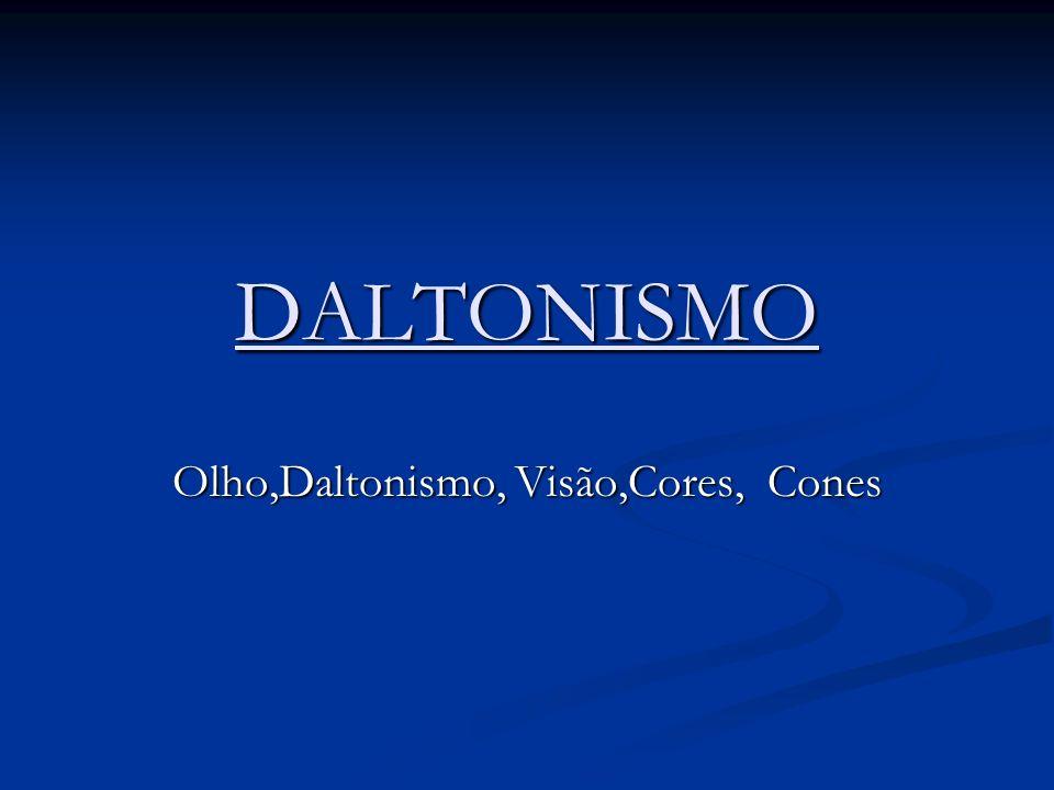 DALTONISMO Olho,Daltonismo, Visão,Cores, Cones